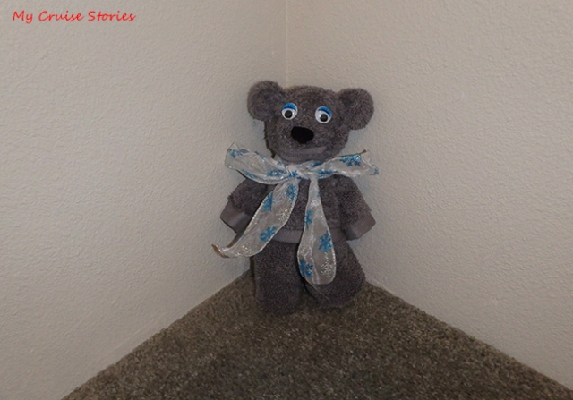 bear made from hand towel