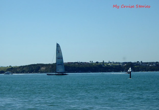 Americas cup sailboat