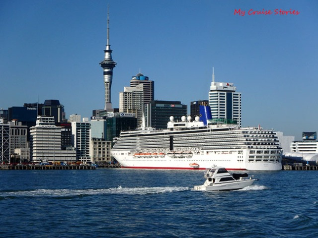 cruise ship in New Zealand