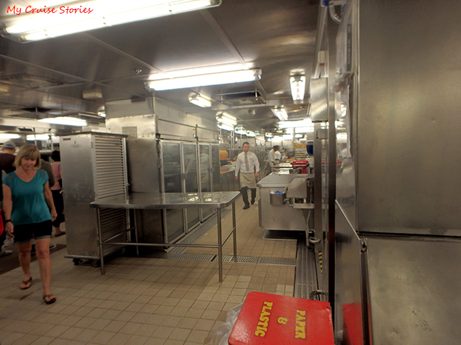 cruise ship galley tour