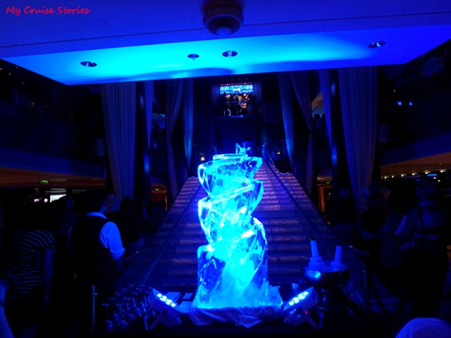cruise ship ice carving