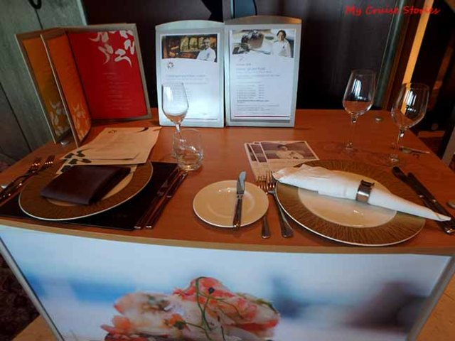 cruise ship premium restaurant