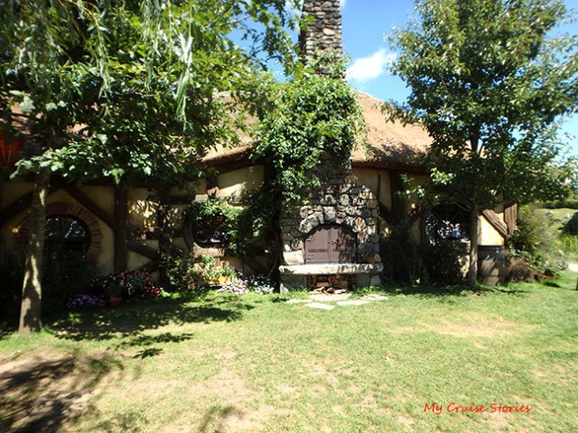 Green Dragon Inn on Hobbiton movie set