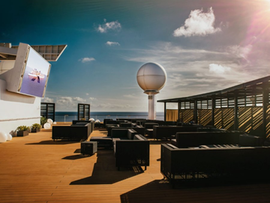 Celebrity Infinity rooftop terrace