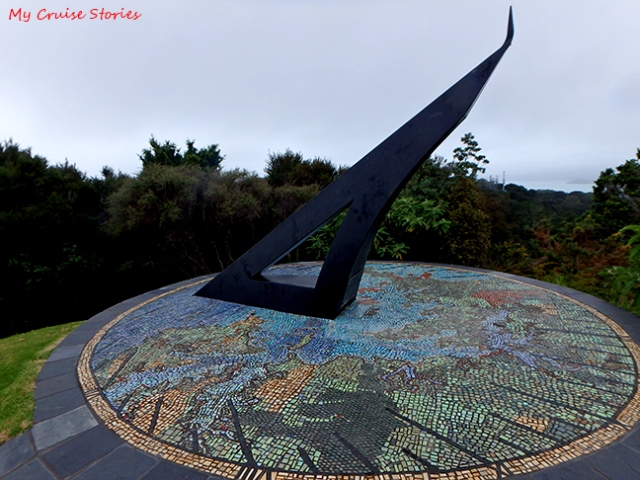 sundial near Russell, New Zealand