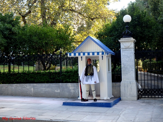 gate gaurd at the presidential mansion
