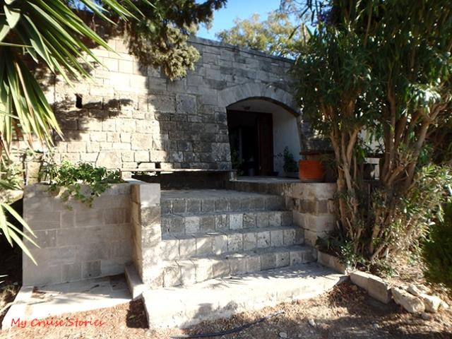 building near Rhodes acropolis