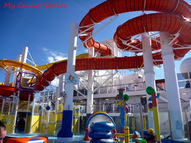 cruise ship waterslides