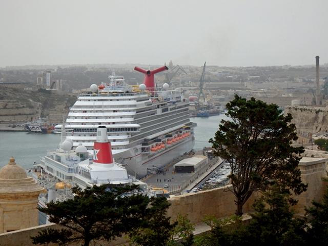Carnival Vista in Malta