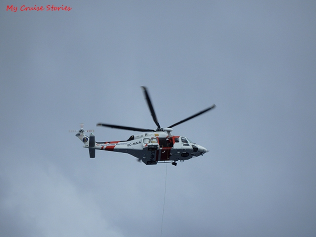 helicopter during a rescue