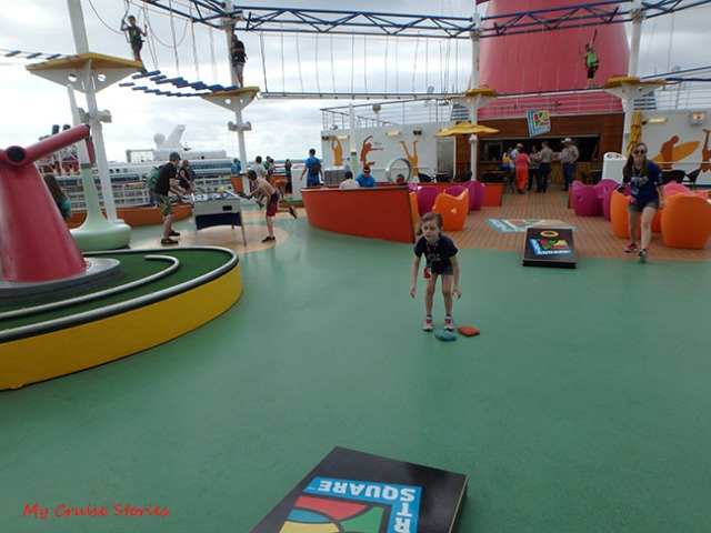 fun and games on the top deck