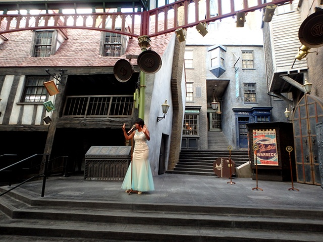 entertainment at Diagon Alley