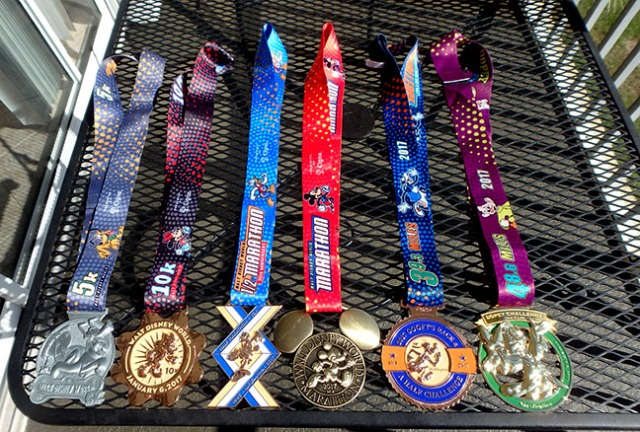 run Disney medals