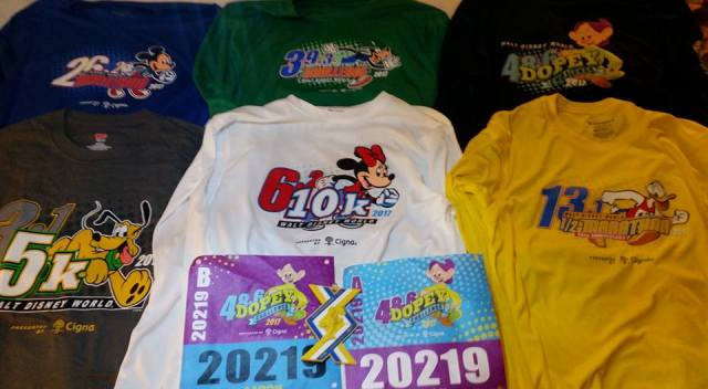 race shirts - not really free since you pay to enter the race