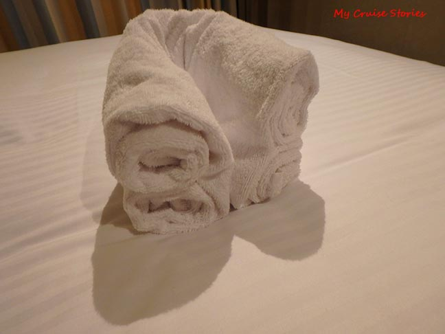 making a towel bear