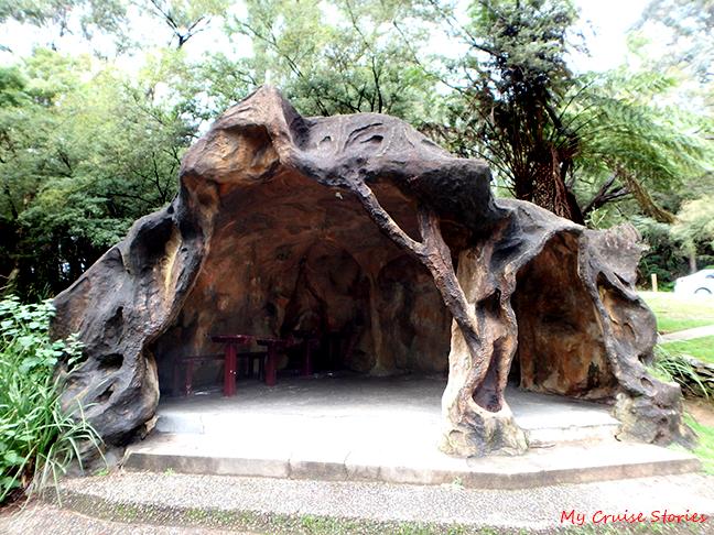 strange picnic shelter
