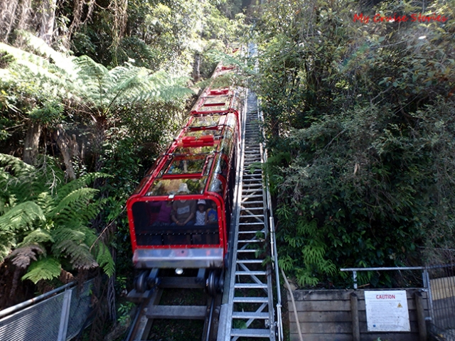 very steep railway
