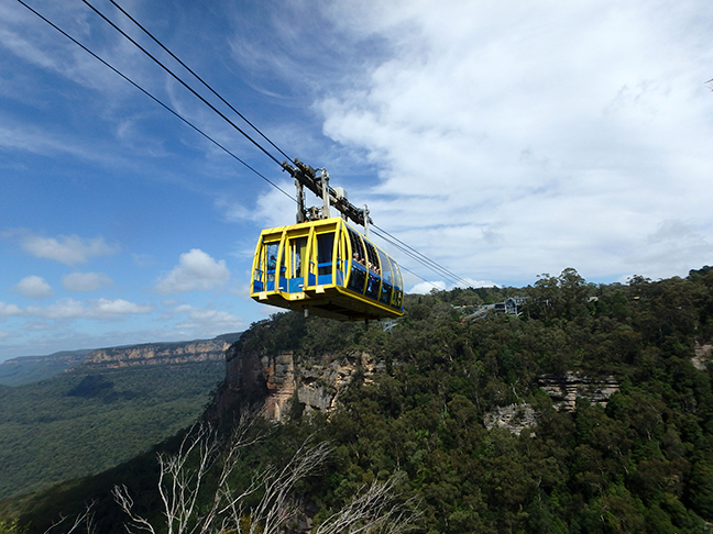 cable car over a ravine