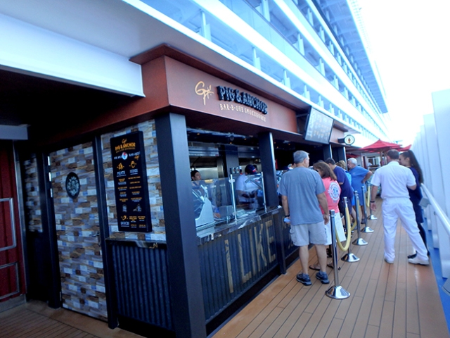 cruise ship barbecue