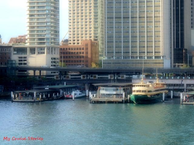 train at Circular Quay