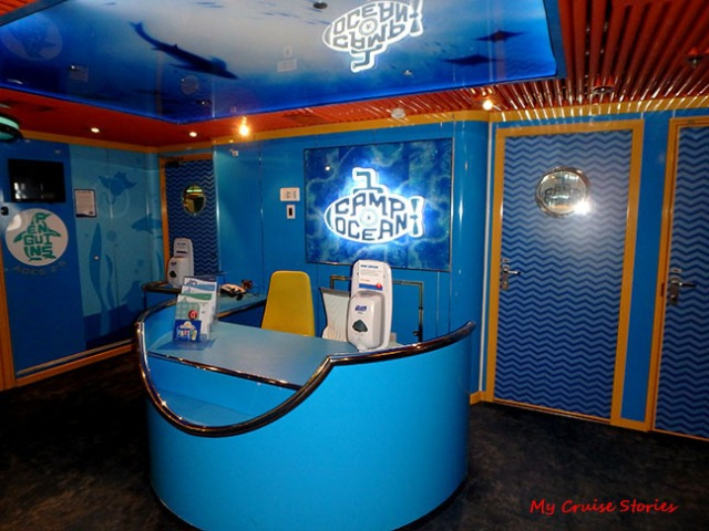 cruise ship kid's club entry