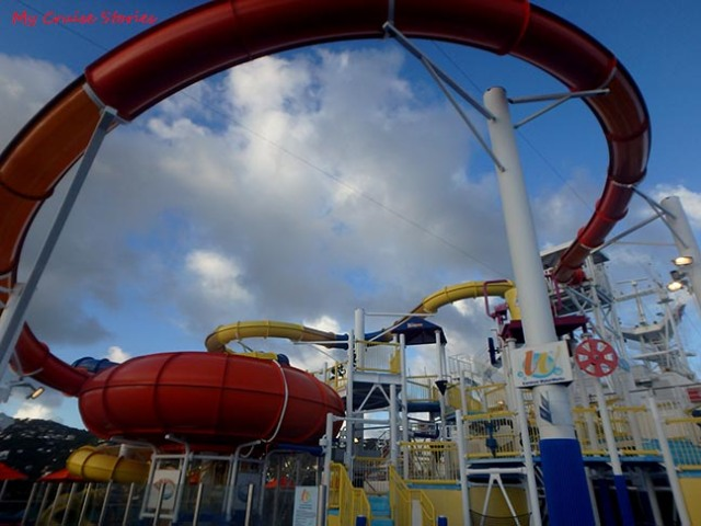 waterslides on a cruise ship