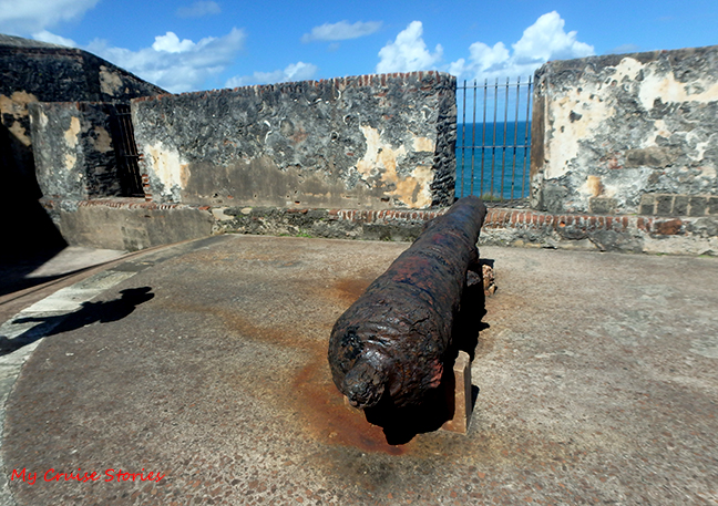 cannon at old Spanish fort