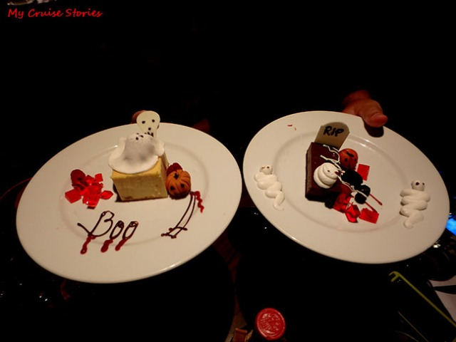 cruise ship Halloween desserts