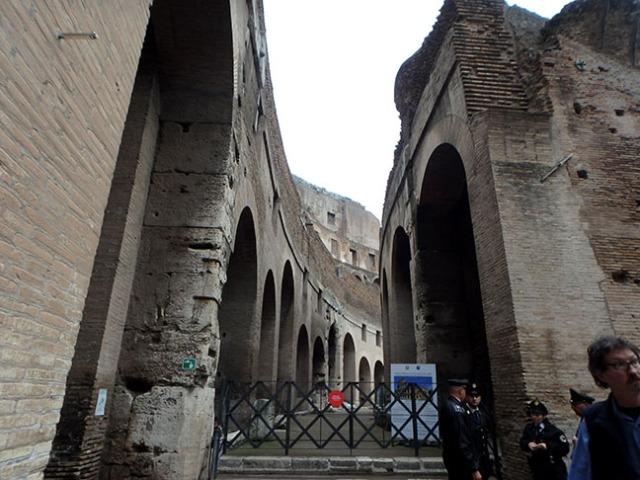 in Rome's colosseum