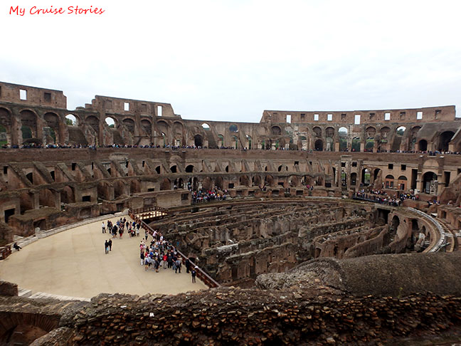 lower levels of colosseum