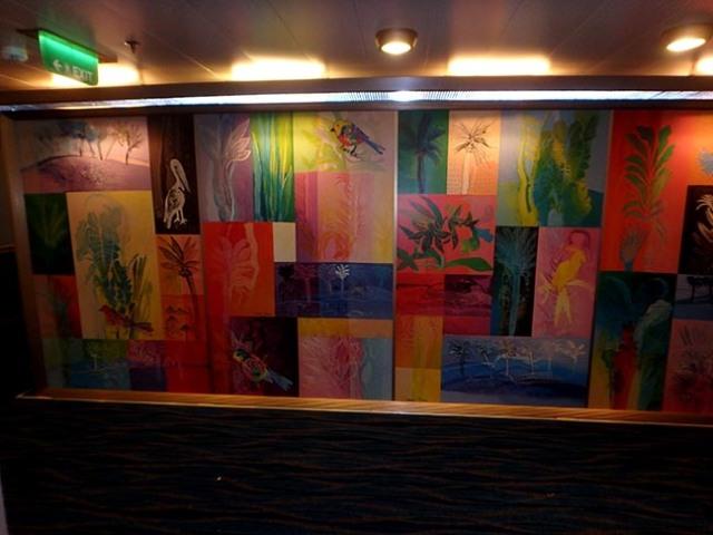 colorful hallway walls