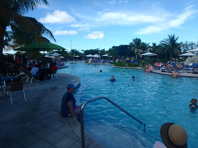pool at Grand Turk cruise port