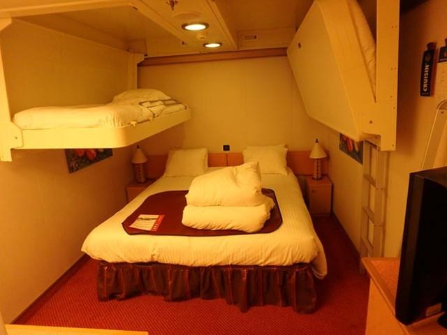 inside cabin sleeps 4