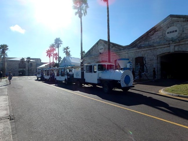 dockyards train, Bermuda