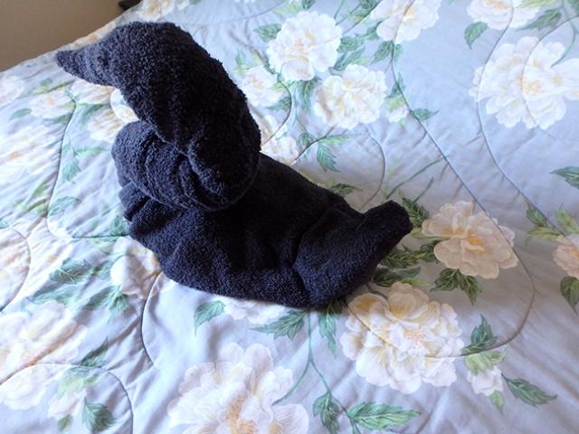 folding a towel swan