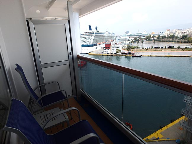 cruise ship balcony