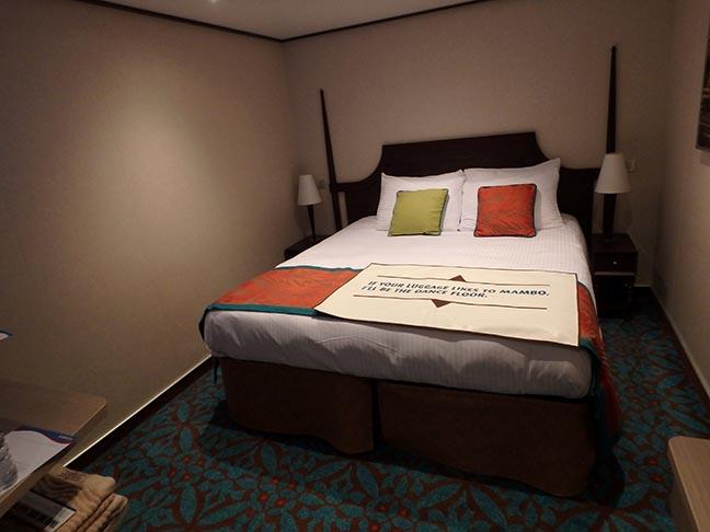 inside cruise ship cabin