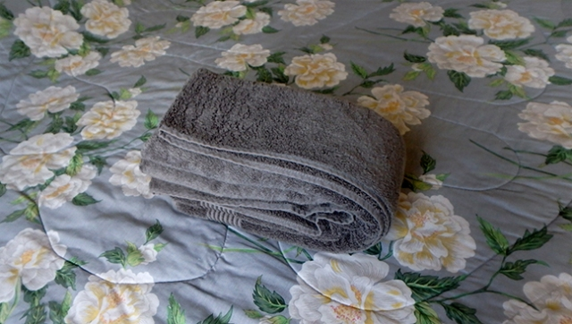 making a towel swan