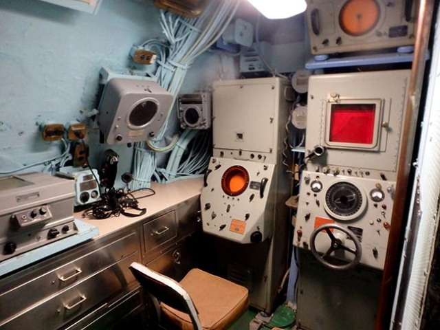 sonar room on a submarine