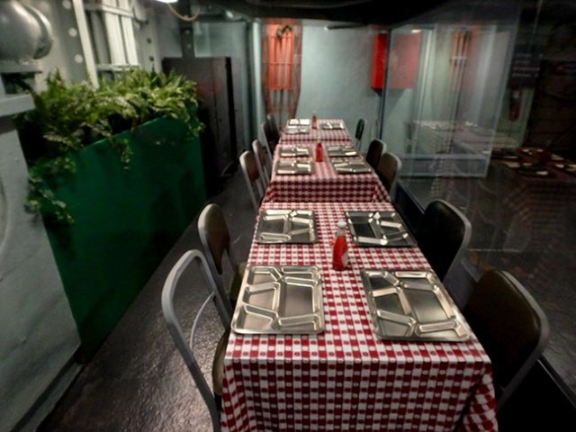 aircraft carrier mess hall