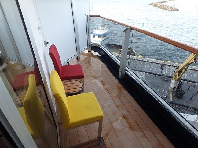 Oosterdam balcony