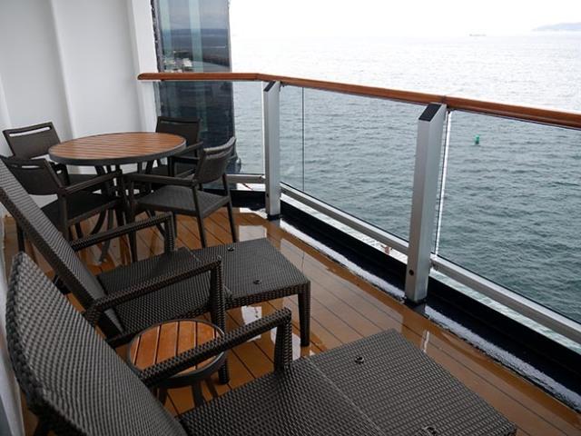Oosterdam Neptune Suite balcony