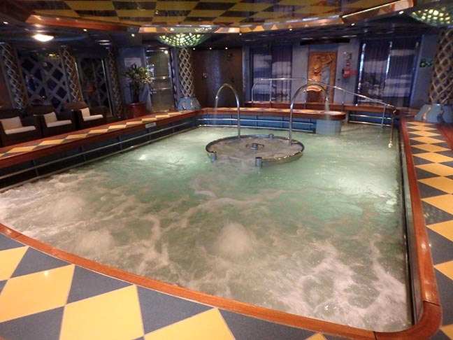 spa pool on Holland America Oosterdam