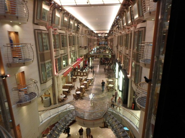 inside a cruise ship