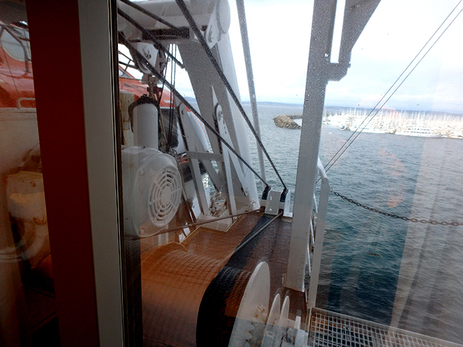 lifeboat and sea view