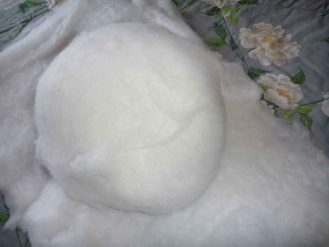 fake snowball on fake snow