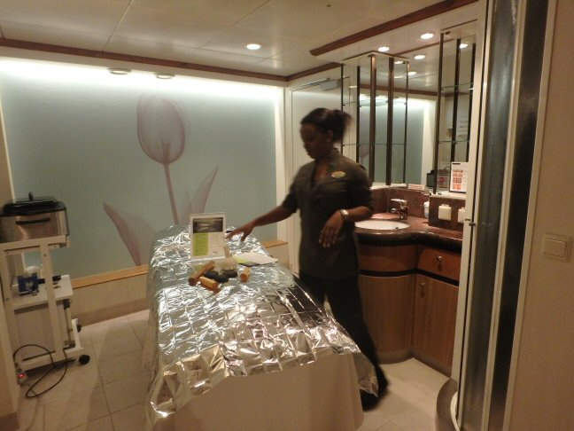 cruise ship spa tour