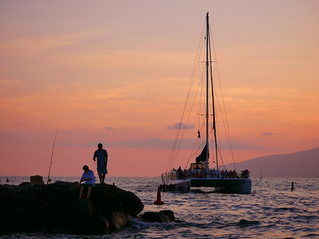 Trilogy sailboat in Hawaii