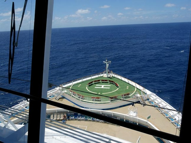 view from cruise ship bridge