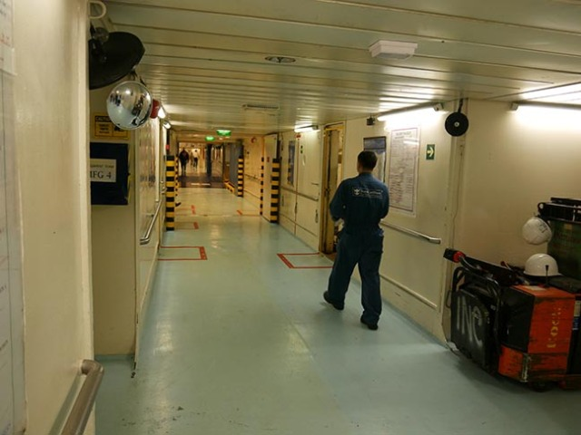 cruise ship crew area